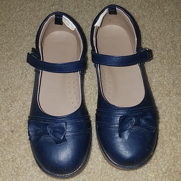Girls Gymboree Navy Blue Dress Shoes